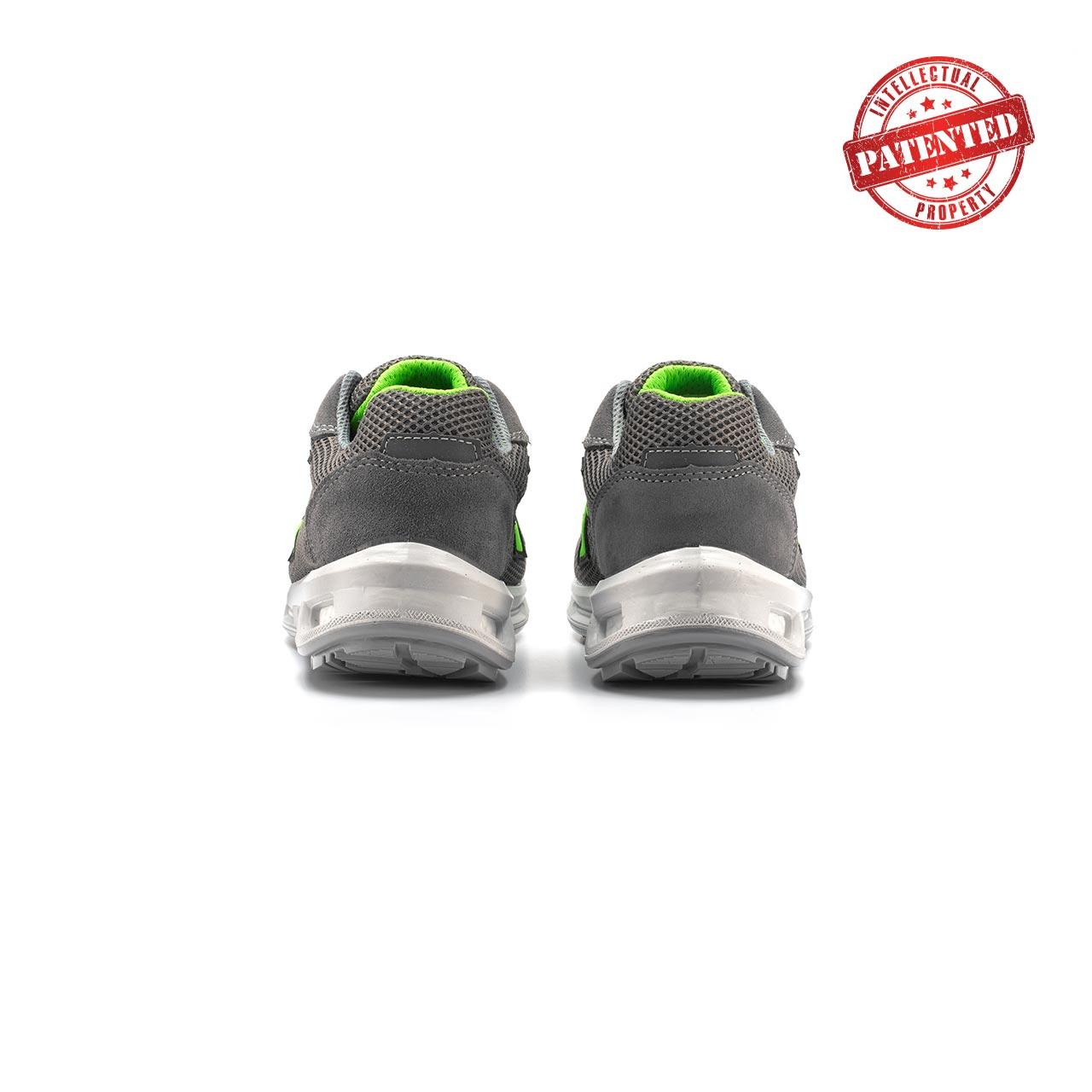 paio di scarpe antinfortunistiche upower modello summer linea redlion vista retro