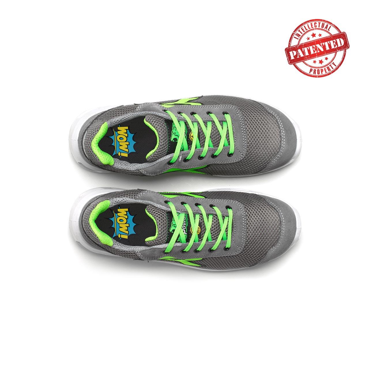 paio di scarpe antinfortunistiche upower modello summer linea redlion vista top