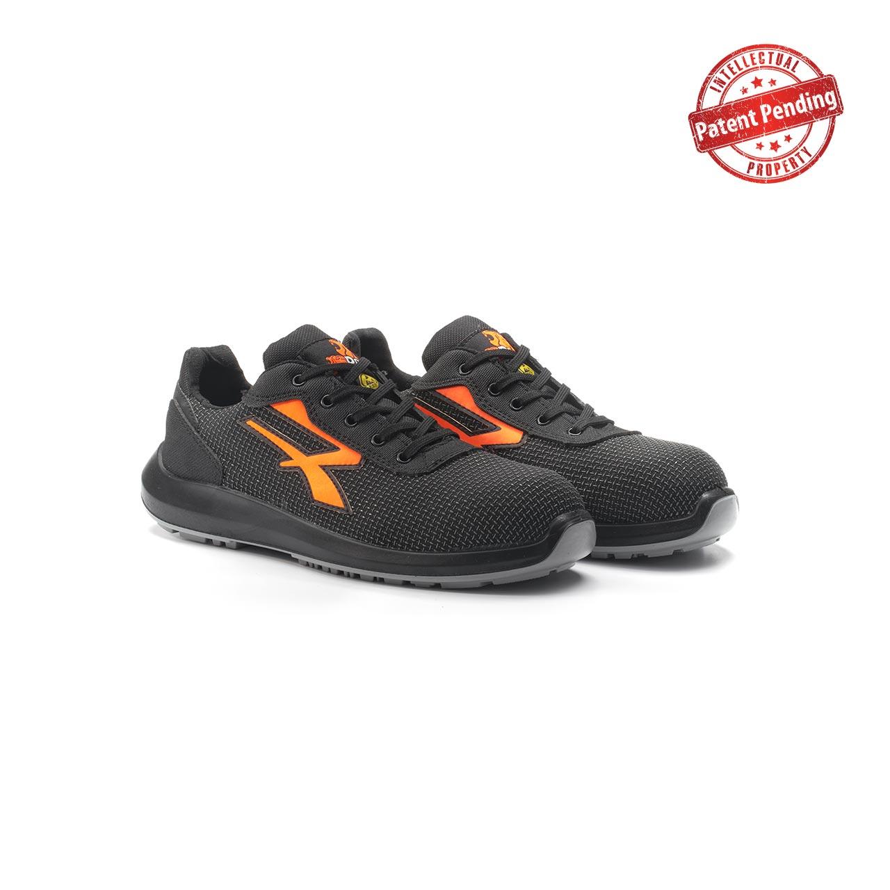 paio di scarpe antinfortunistiche upower modello taurus linea redup vista prospettica