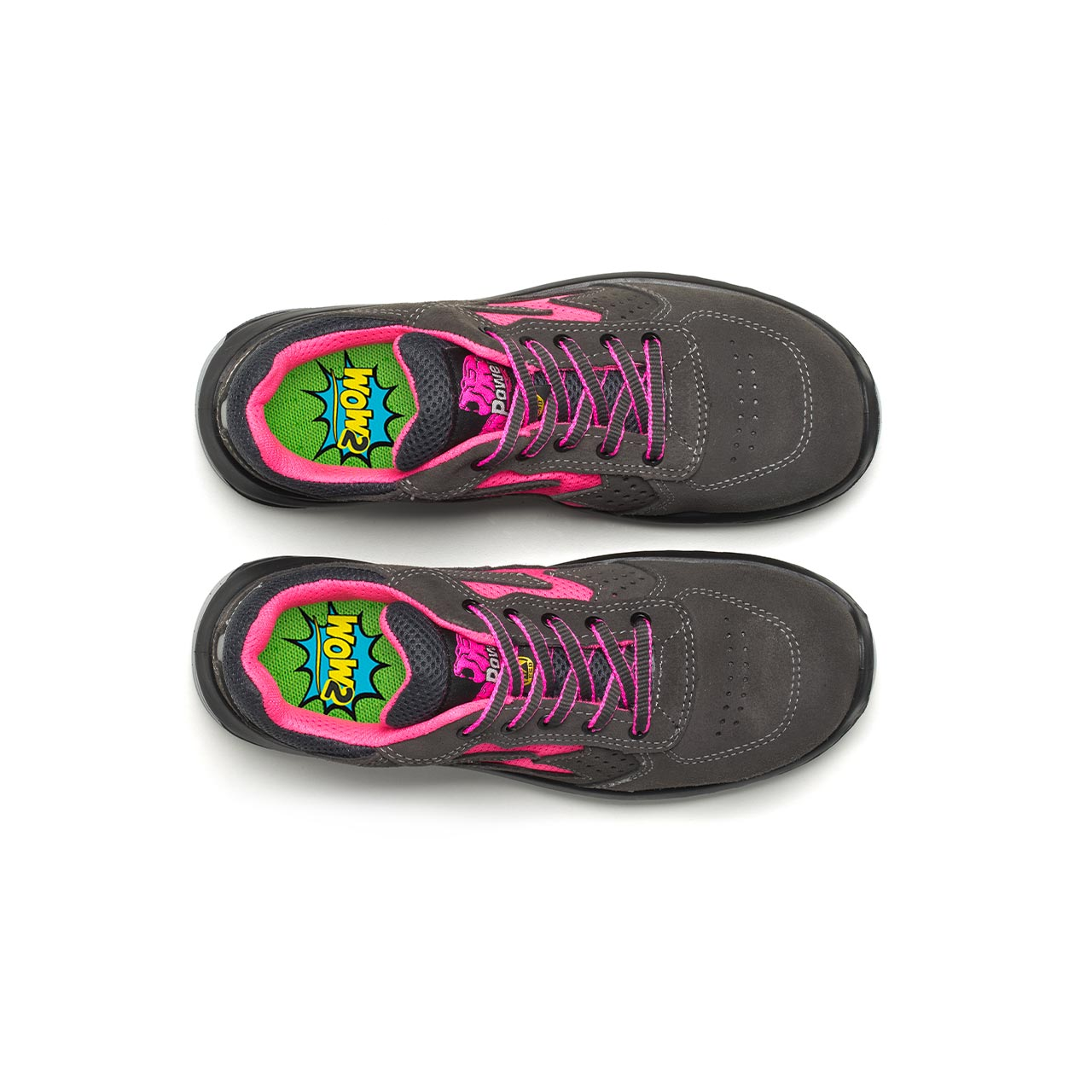 paio di scarpe antinfortunistiche upower modello tokio linea redindustry vista top