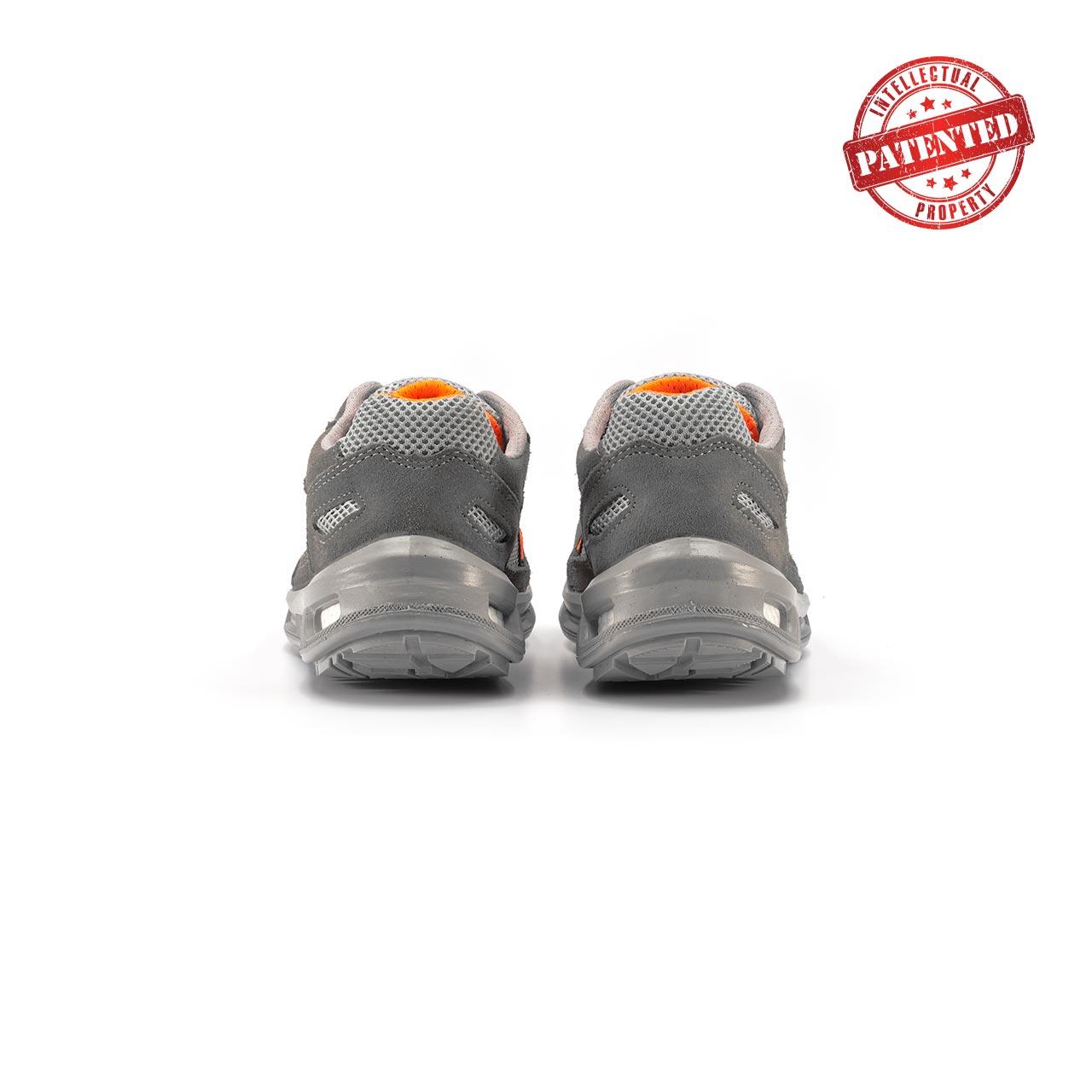 paio di scarpe antinfortunistiche upower modello ultra linea redlion vista retro