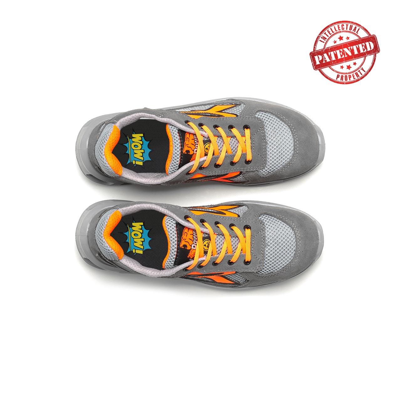 paio di scarpe antinfortunistiche upower modello ultra linea redlion vista top