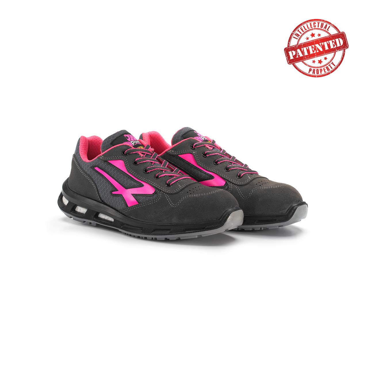 paio di scarpe antinfortunistiche upower modello verok linea redlion vista prospettica