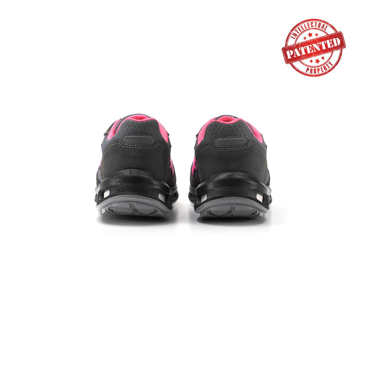 paio di scarpe antinfortunistiche upower modello verok linea redlion vista retro