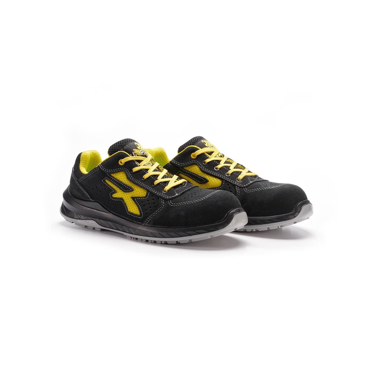 paio di scarpe antinfortunistiche upower modello vortix linea redindustry vista prospettica
