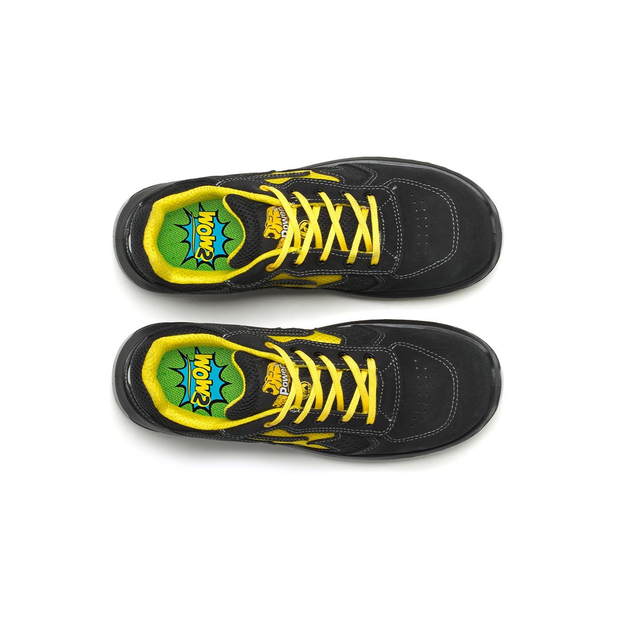 paio di scarpe antinfortunistiche upower modello vortix linea redindustry vista top