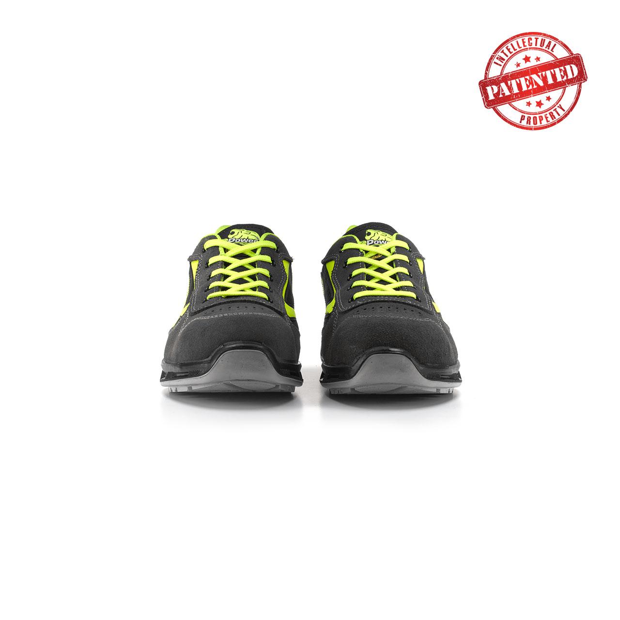 paio di scarpe antinfortunistiche upower modello yellow linea redlion vista frontale