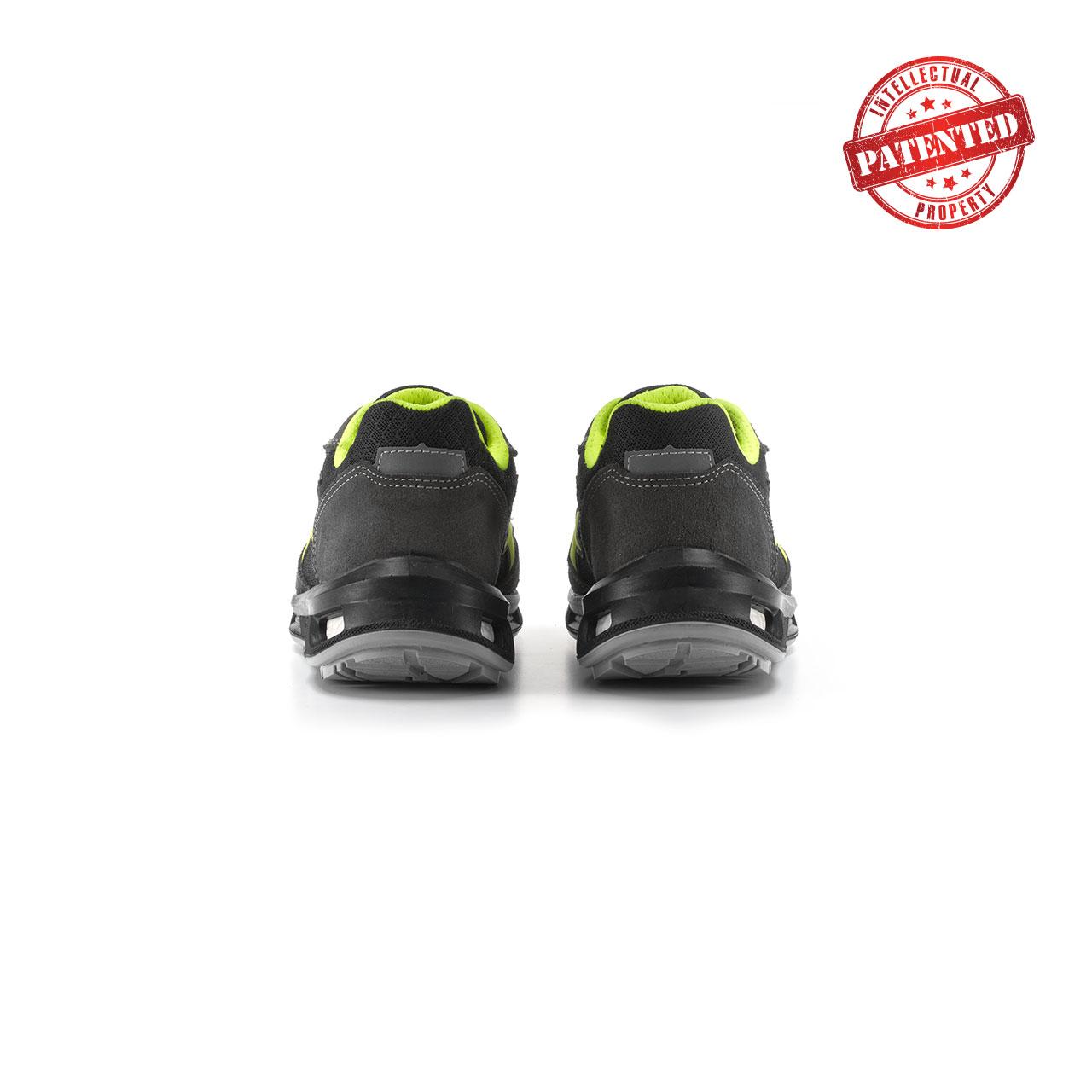 paio di scarpe antinfortunistiche upower modello yellow linea redlion vista retro
