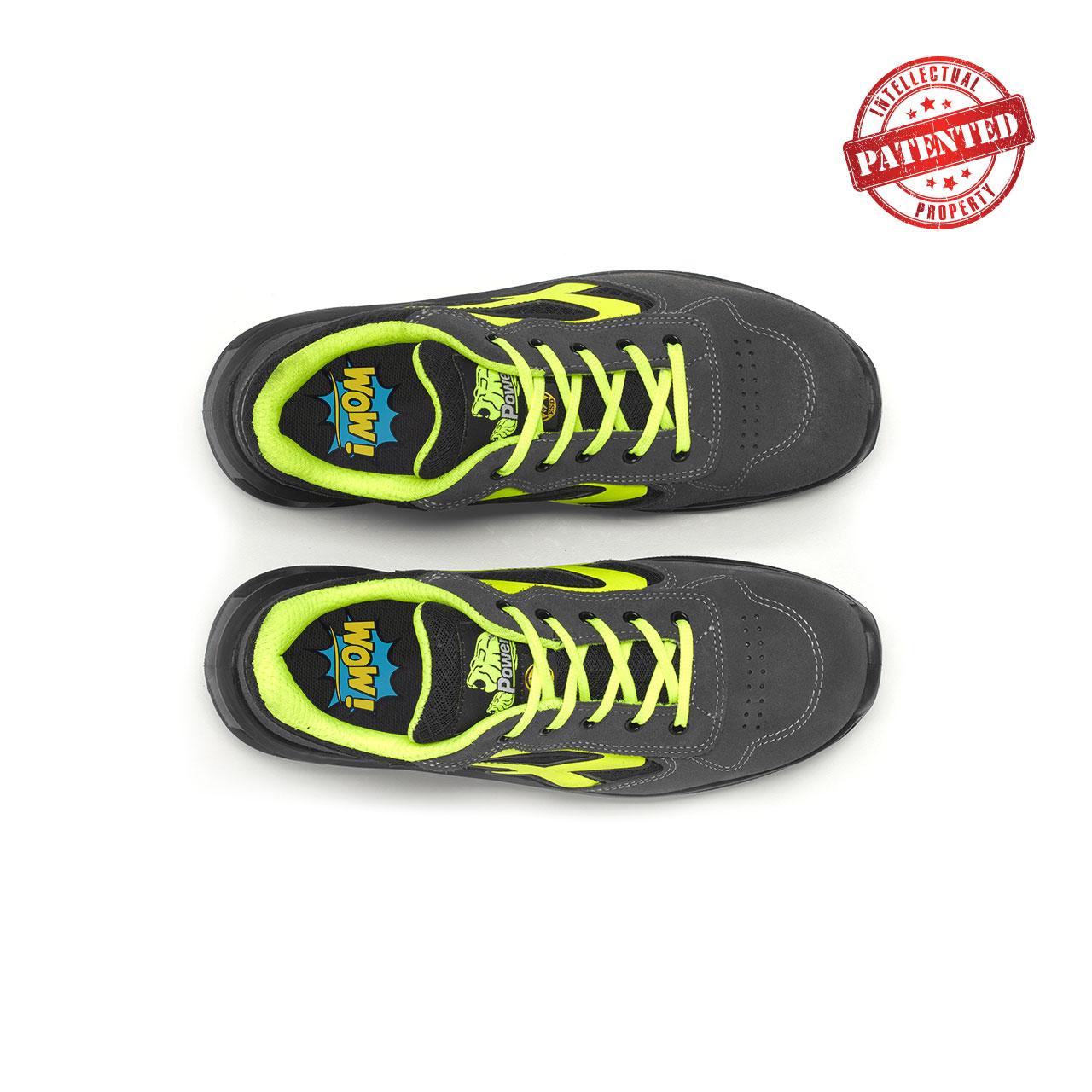 paio di scarpe antinfortunistiche upower modello yellow linea redlion vista top