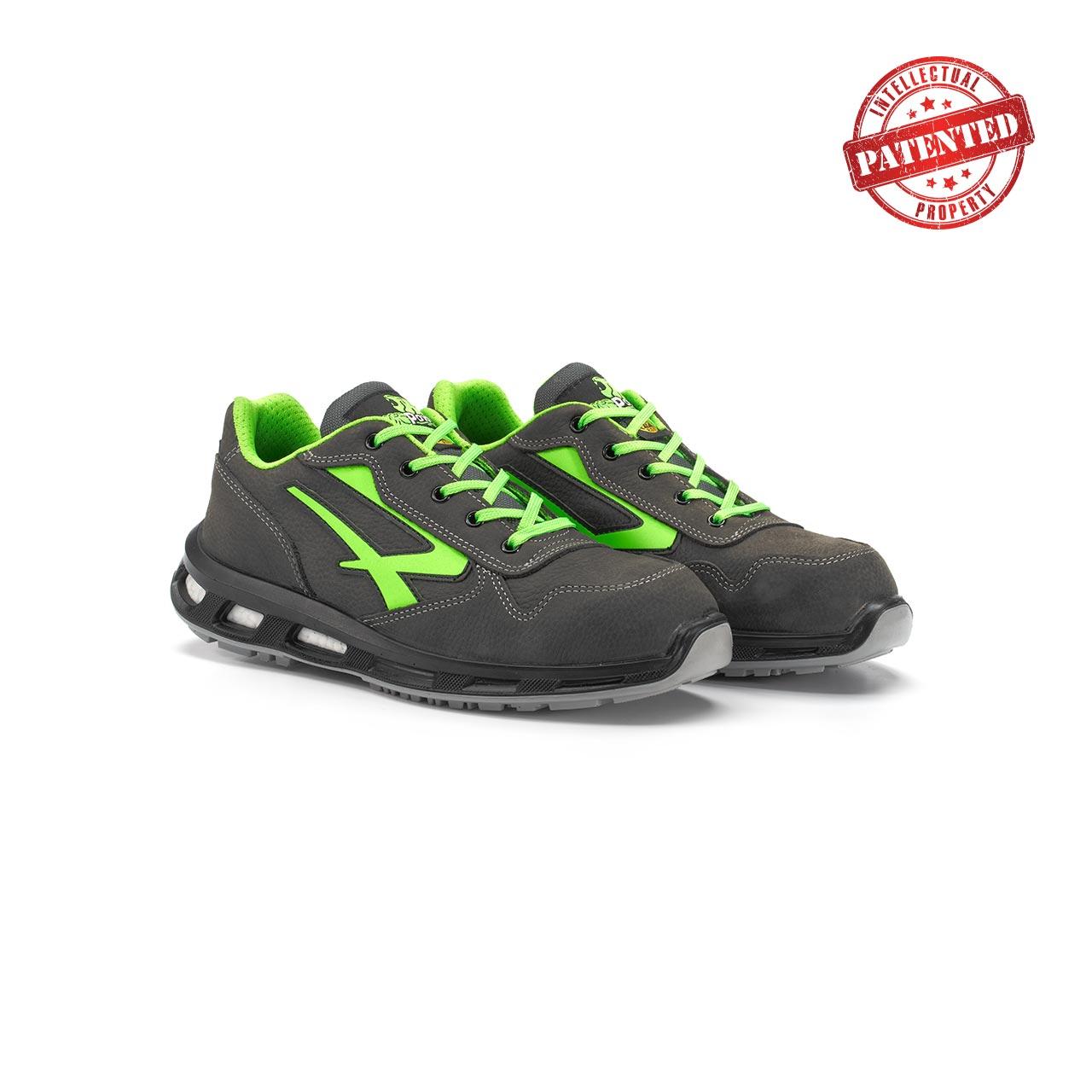 paio di scarpe antinfortunistiche upower modello yoda linea redlion vista prospettica
