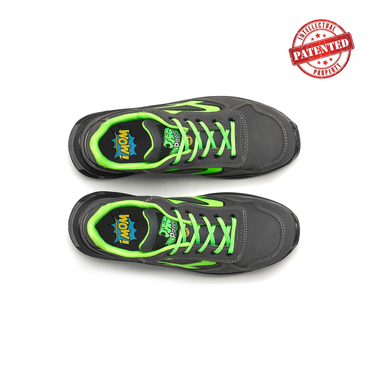 paio di scarpe antinfortunistiche upower modello yoda linea redlion vista top