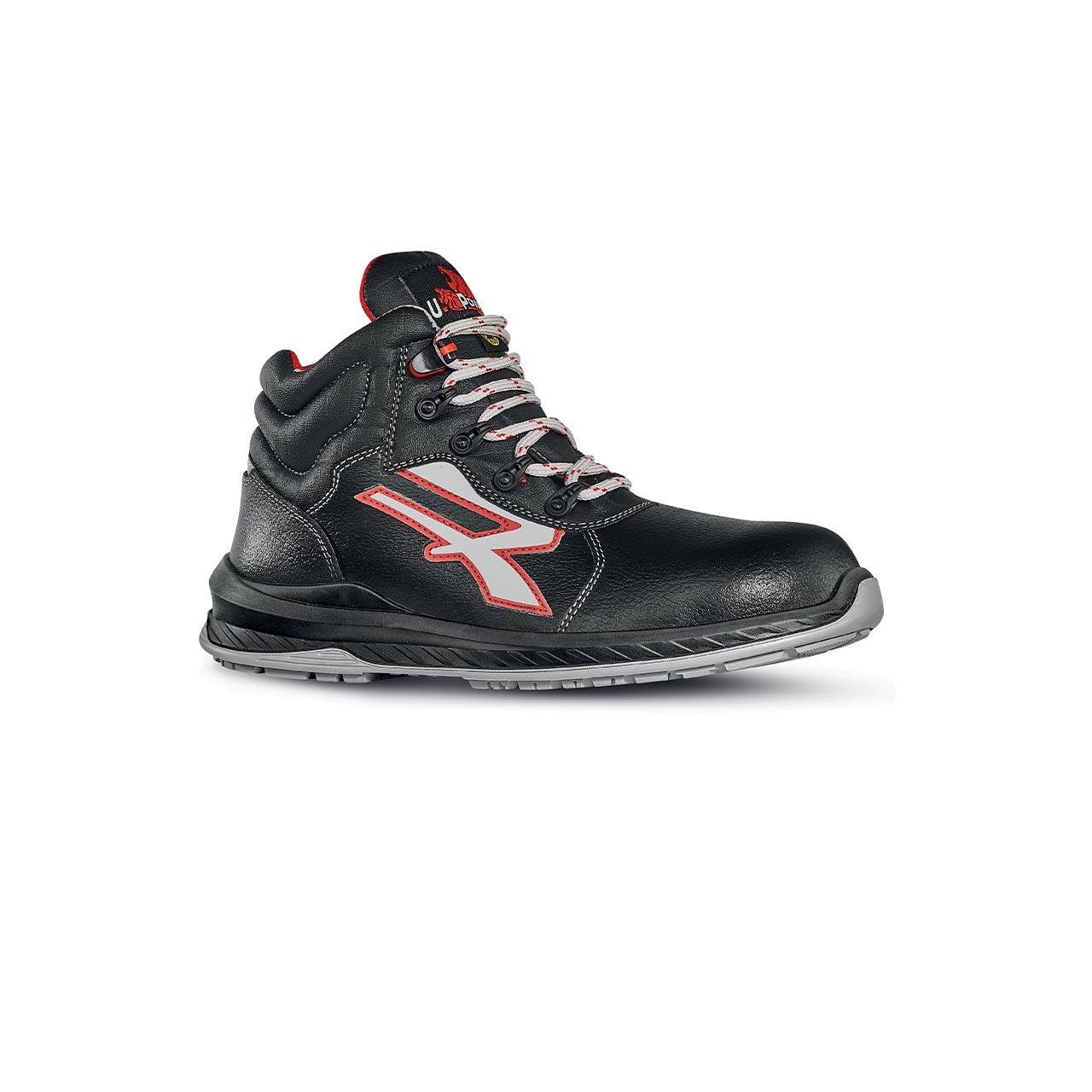 scarpa antinfortunistica alta upower modello boston linea redindustry vista laterale