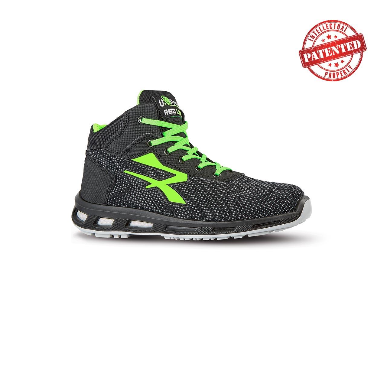 scarpa antinfortunistica alta upower modello hard linea redlion vista laterale