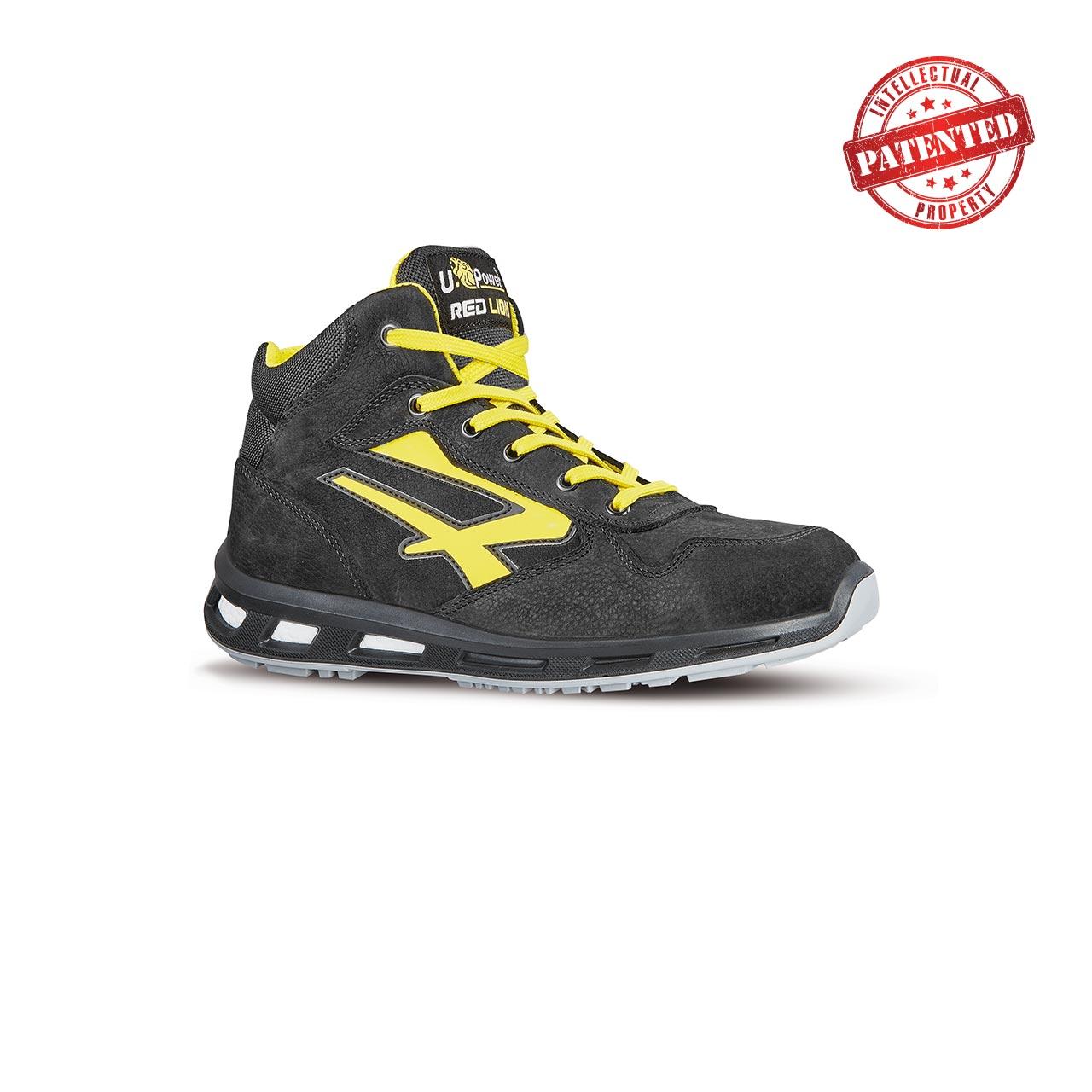 scarpa antinfortunistica alta upower modello shot linea redlion vista laterale
