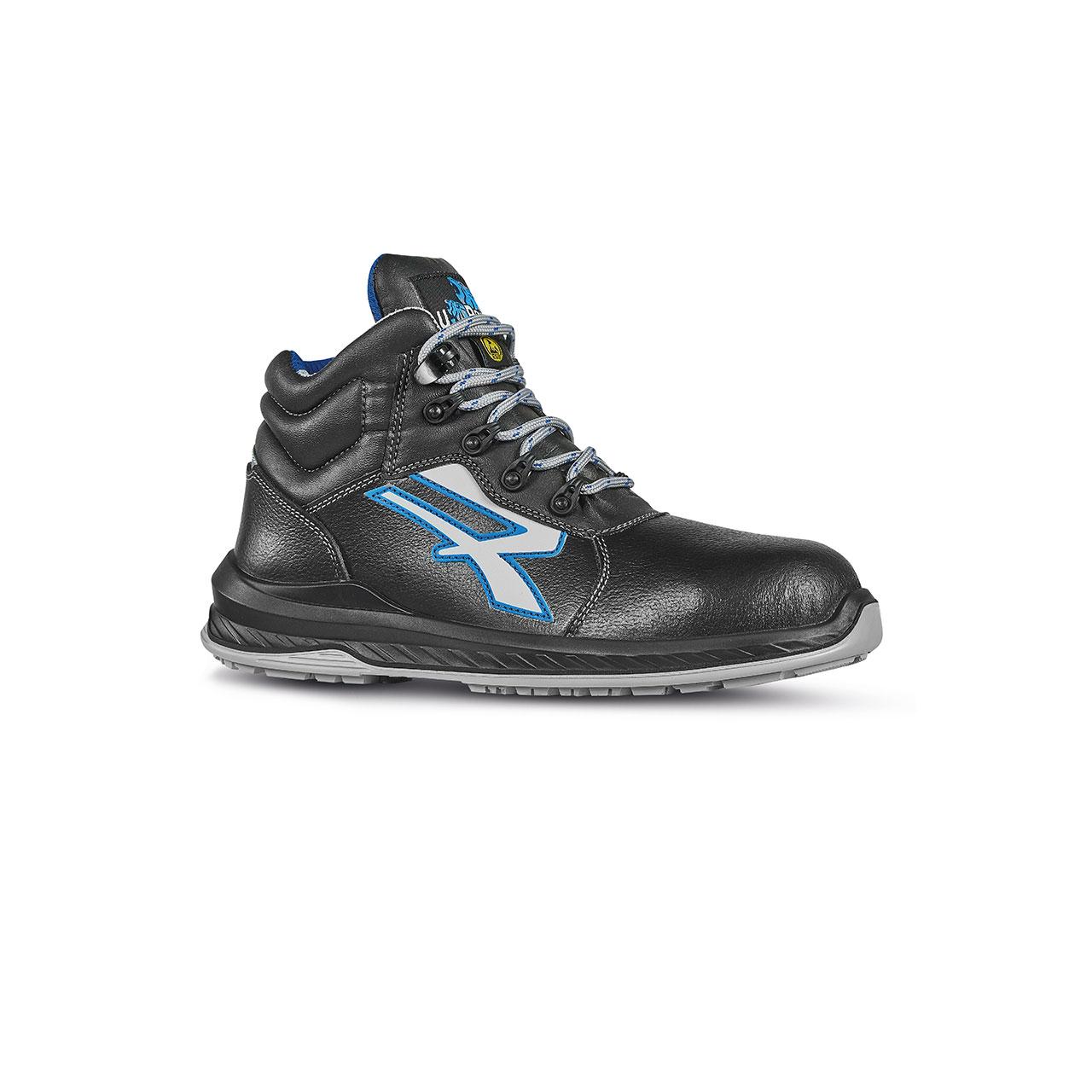 scarpa antinfortunistica alta upower modello tenerife linea redindustry vista laterale