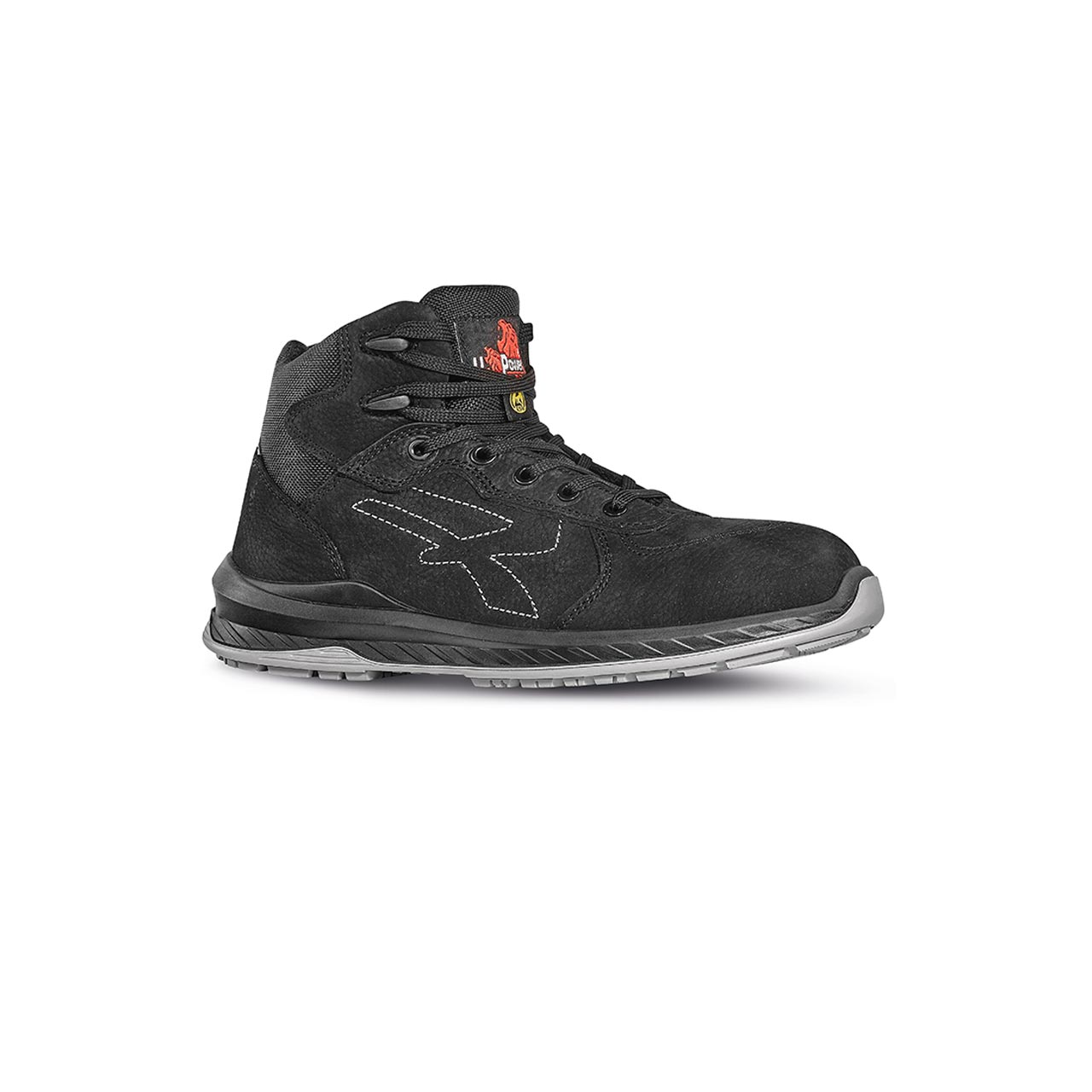 scarpa antinfortunistica alta upower modello tweed linea redindustry vista laterale