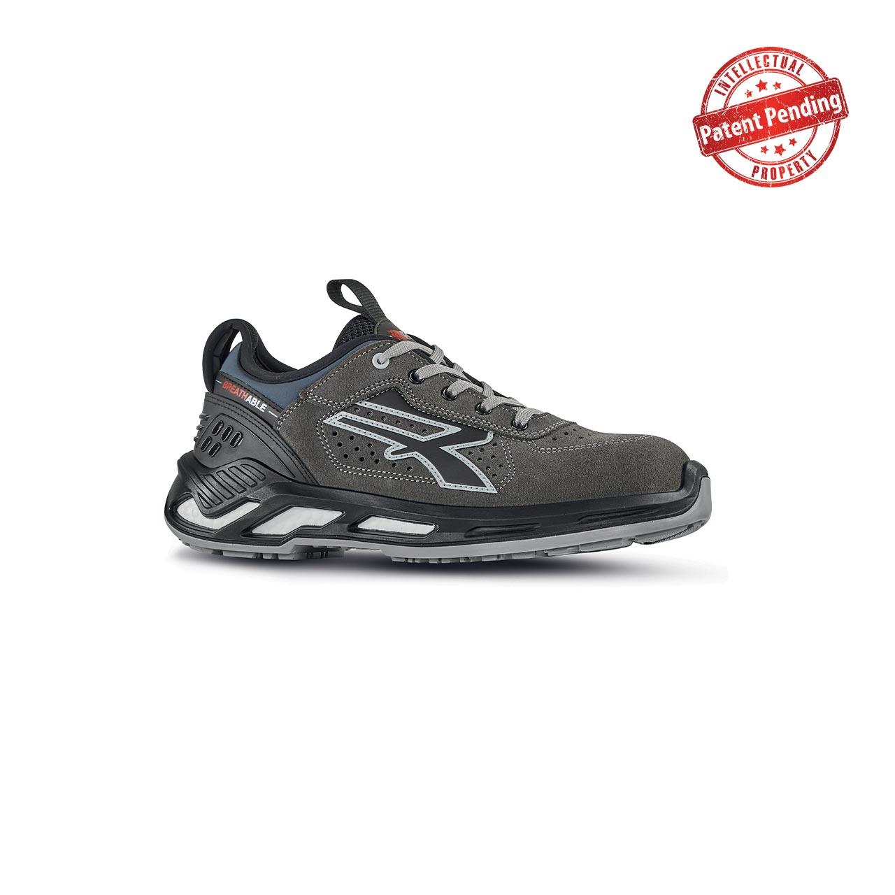 scarpa antinfortunistica upower modello aron linea red360 vista laterale