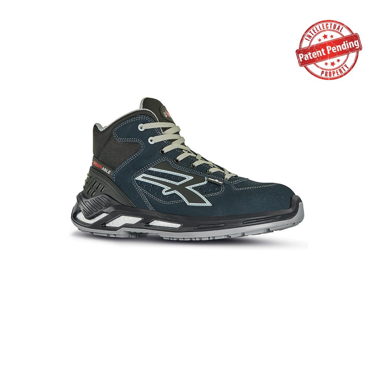 scarpa antinfortunistica upower modello blaster linea red360 vista laterale