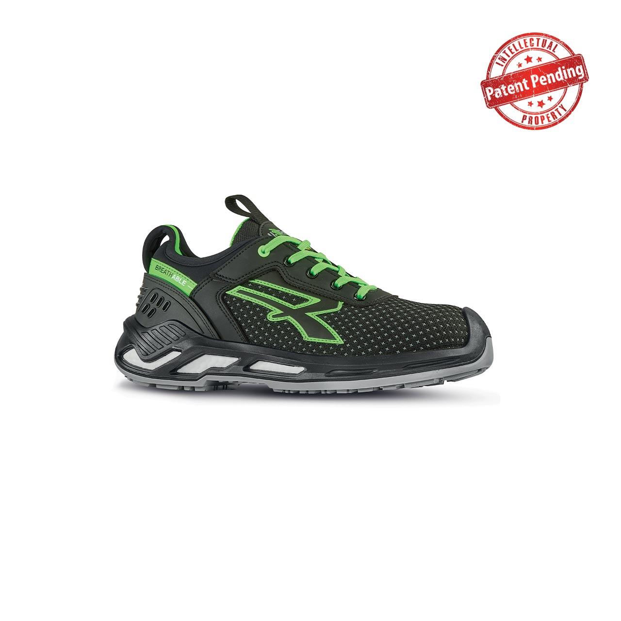 scarpa antinfortunistica upower modello bryan linea red360 vista laterale