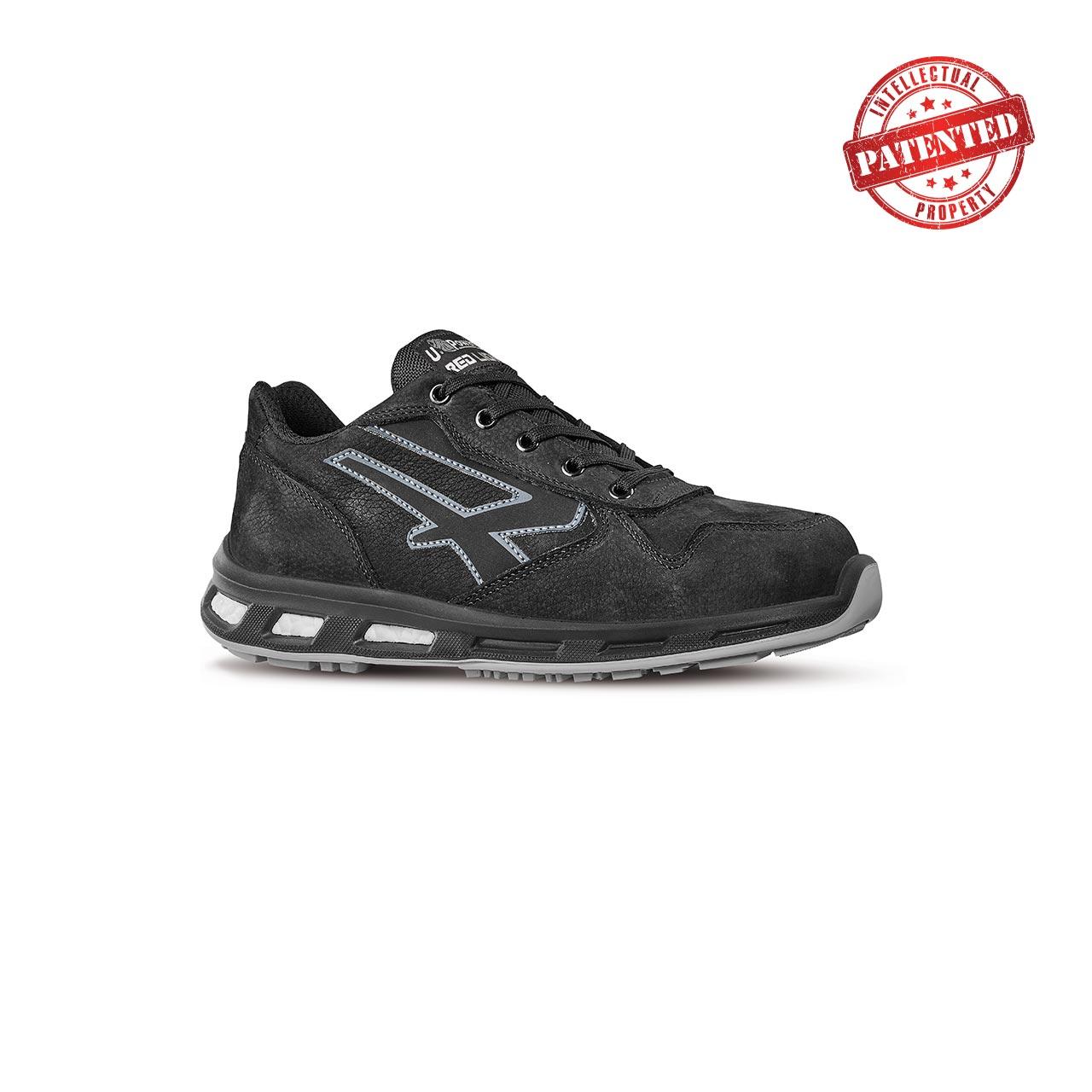 scarpa antinfortunistica upower modello carbon linea redlion vista laterale