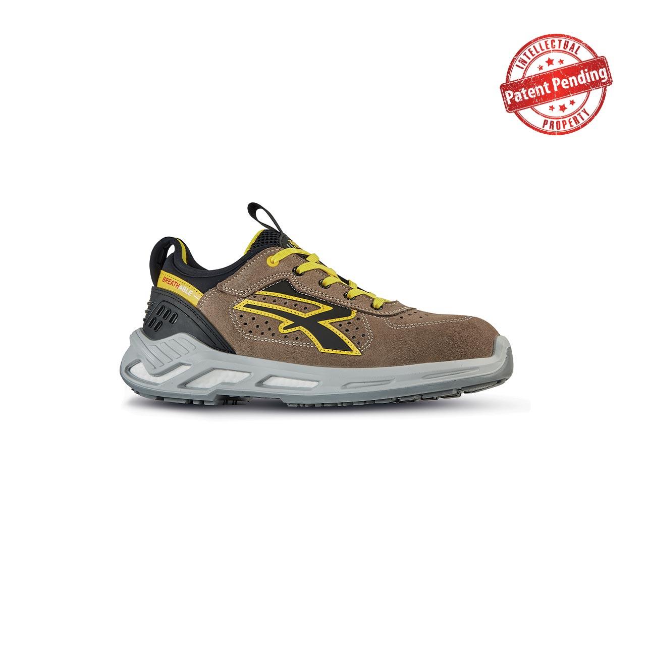 scarpa antinfortunistica upower modello curry linea red360 vista laterale