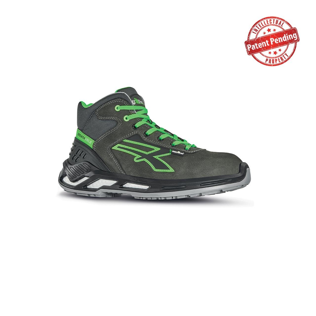scarpa antinfortunistica upower modello daryl linea red360 vista laterale