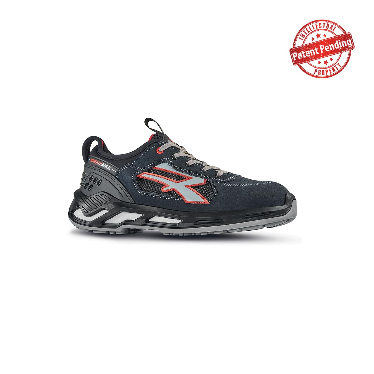 scarpa antinfortunistica upower modello gang linea red360 vista laterale