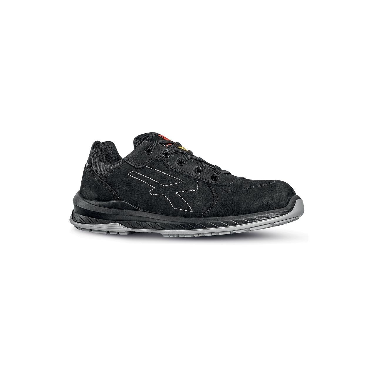 scarpa antinfortunistica upower modello gessato linea redindustry vista laterale