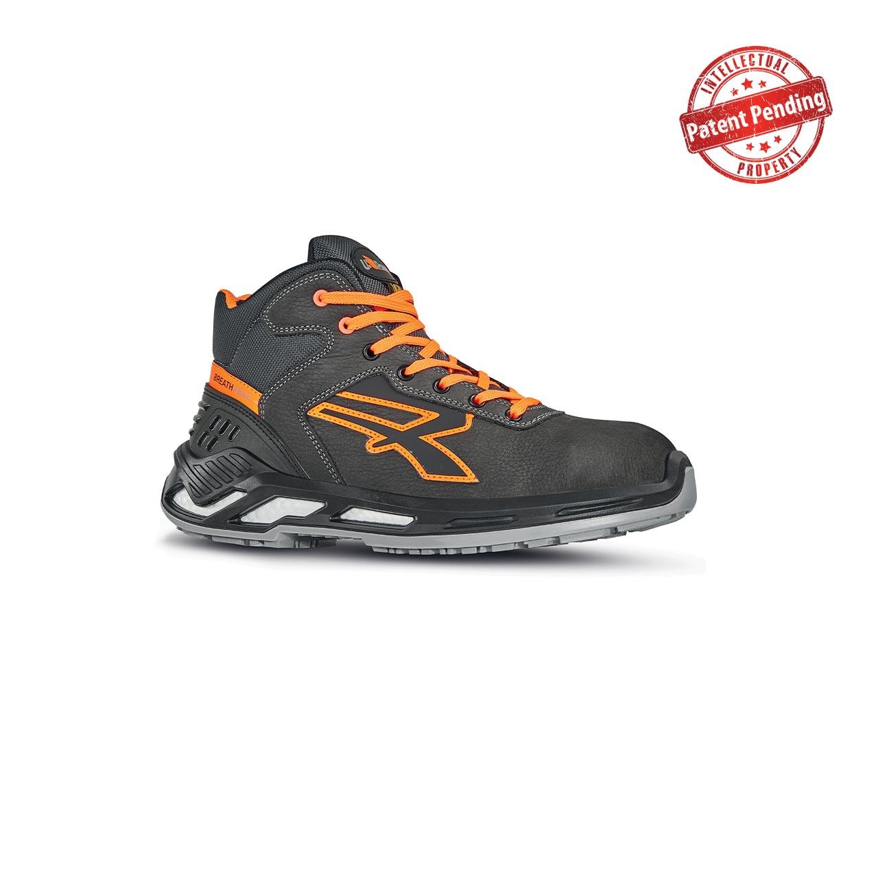 scarpa antinfortunistica upower modello jordan linea red360 vista laterale