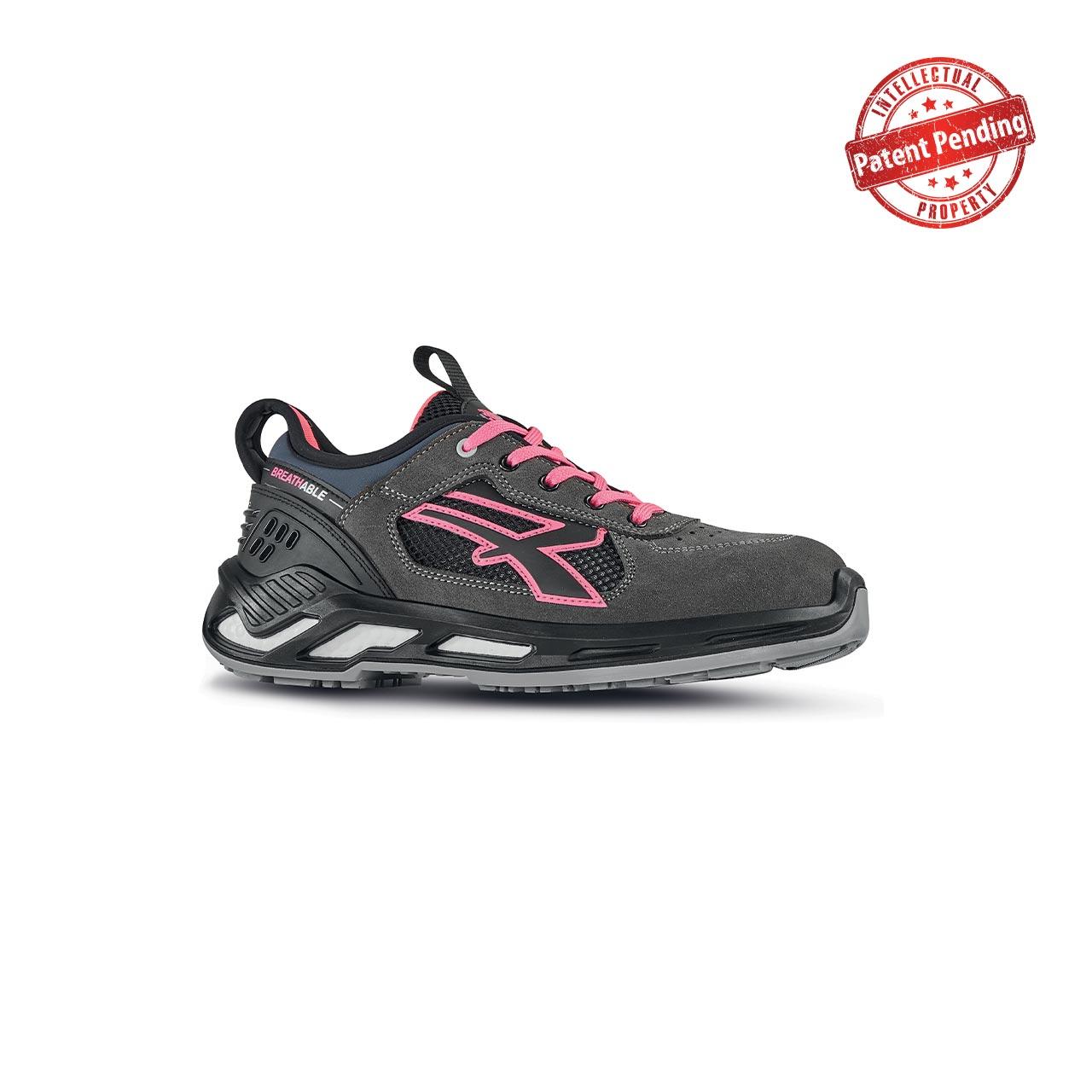 scarpa antinfortunistica upower modello kate linea red360 vista laterale