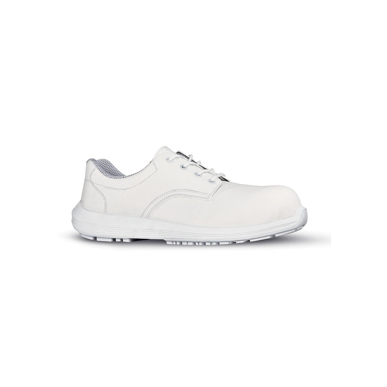 scarpa antinfortunistica upower modello lab grip linea white68&black vista laterale