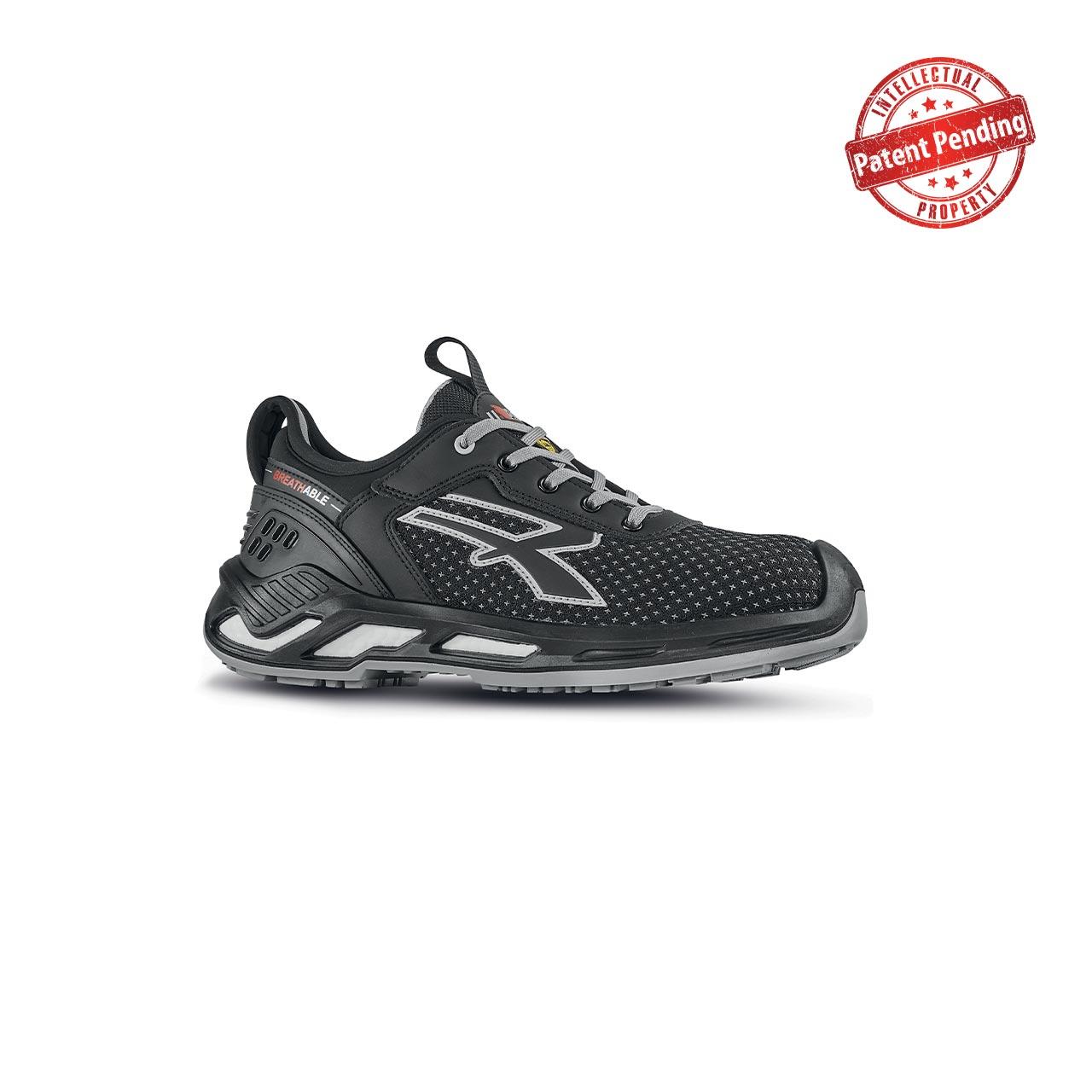 scarpa antinfortunistica upower modello marlin linea red360 vista laterale