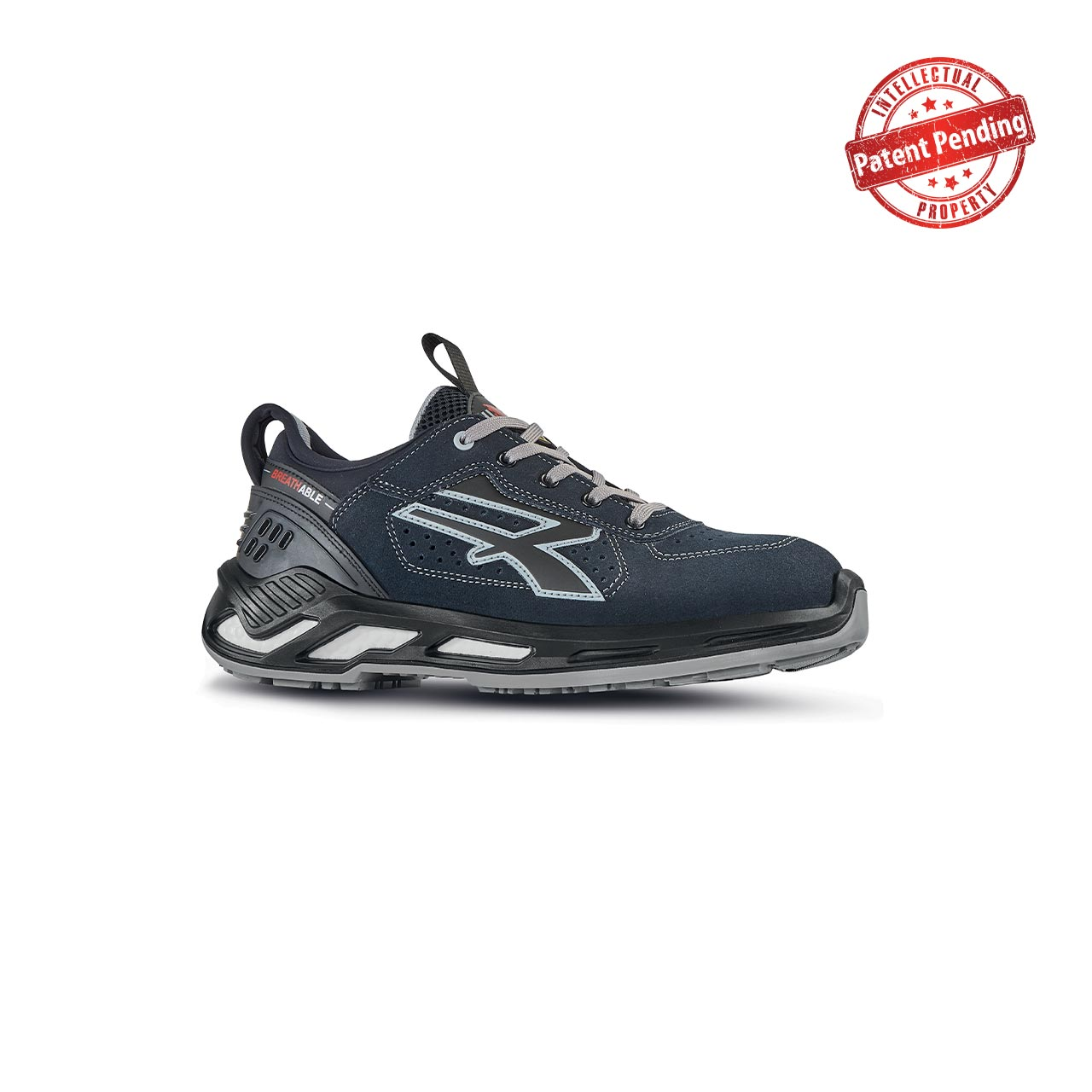 scarpa antinfortunistica upower modello mason linea red360 vista laterale