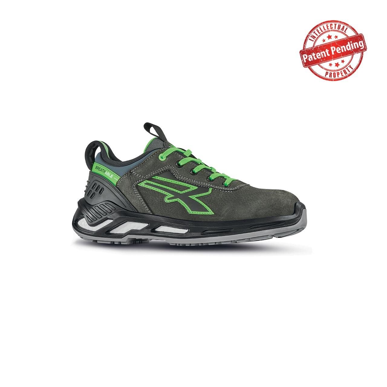 scarpa antinfortunistica upower modello naos linea red360 vista laterale