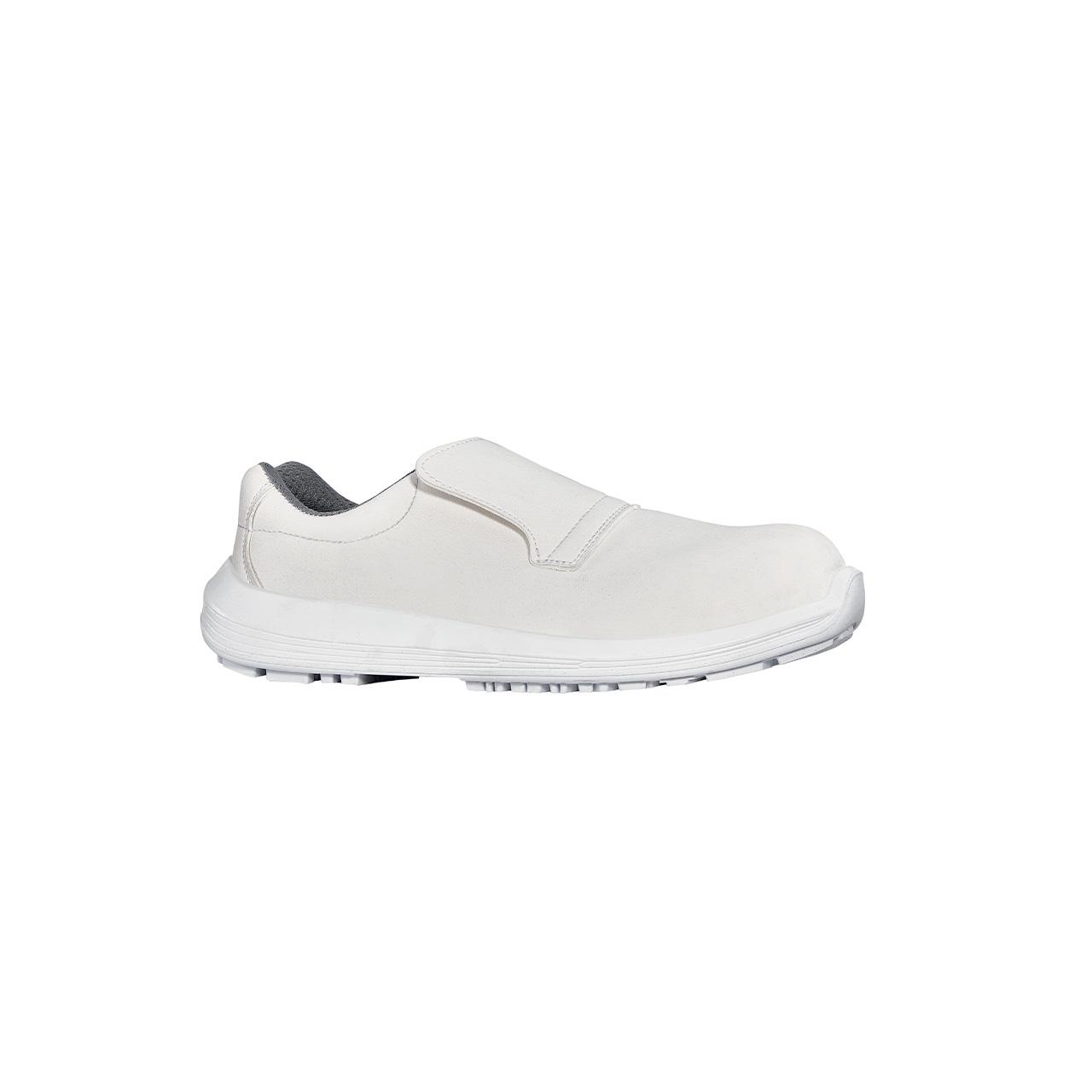scarpa antinfortunistica upower modello nurse grip linea white68&black vista laterale