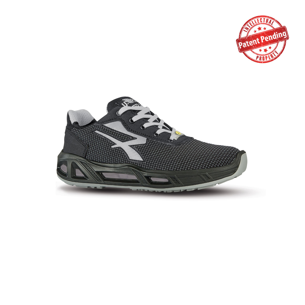 scarpa antinfortunistica upower modello raptor carpet linea redcarpet vista laterale