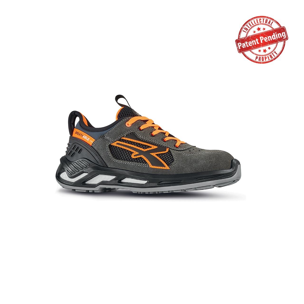 scarpa antinfortunistica upower modello ryder linea red360 vista laterale