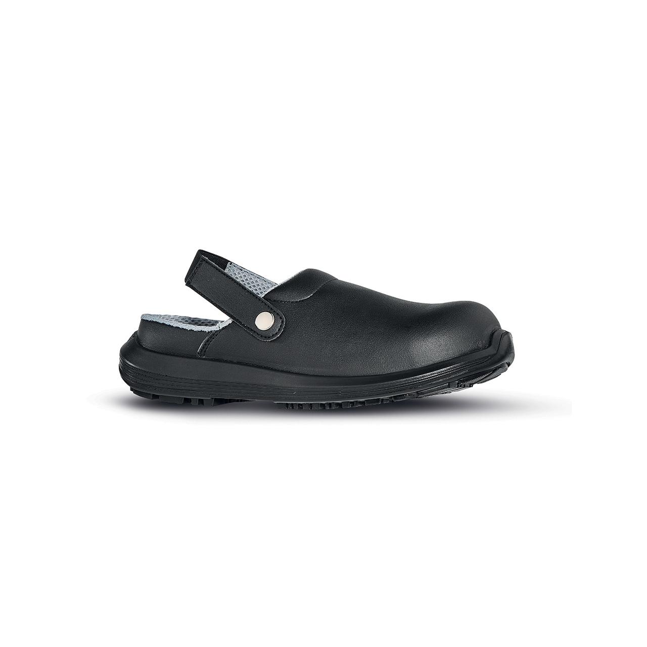 scarpa antinfortunistica upower modello super linea black68_white vista laterale
