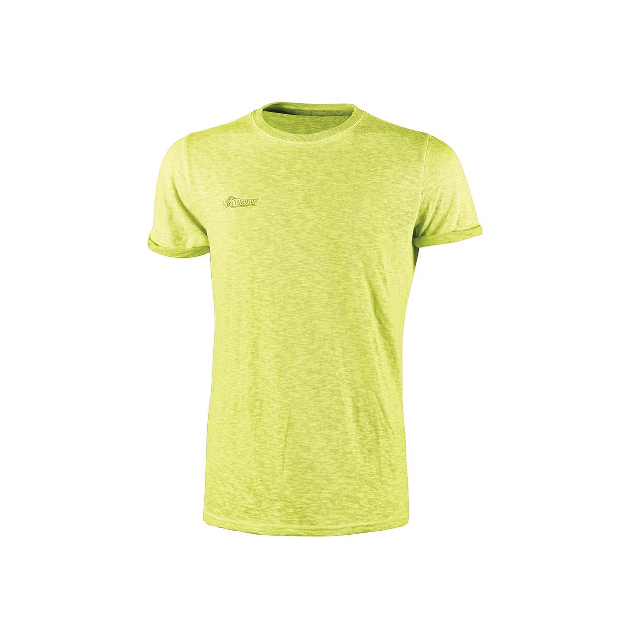 Tshirt da lavoro upower modello fluo colore yellow fluo prodotto