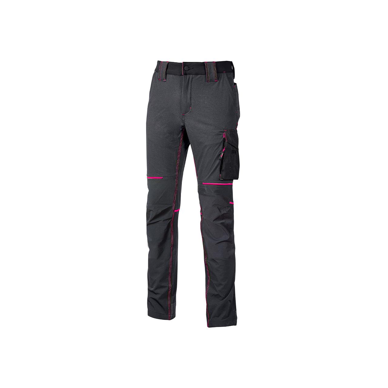 pantalone da lavoro upower modello world lady colore grey fucsia prodotto