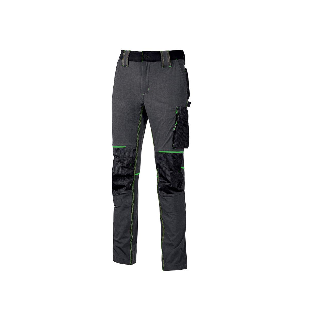 pantalone da lavoro upower modello atom colore asphalt grey green prodotto