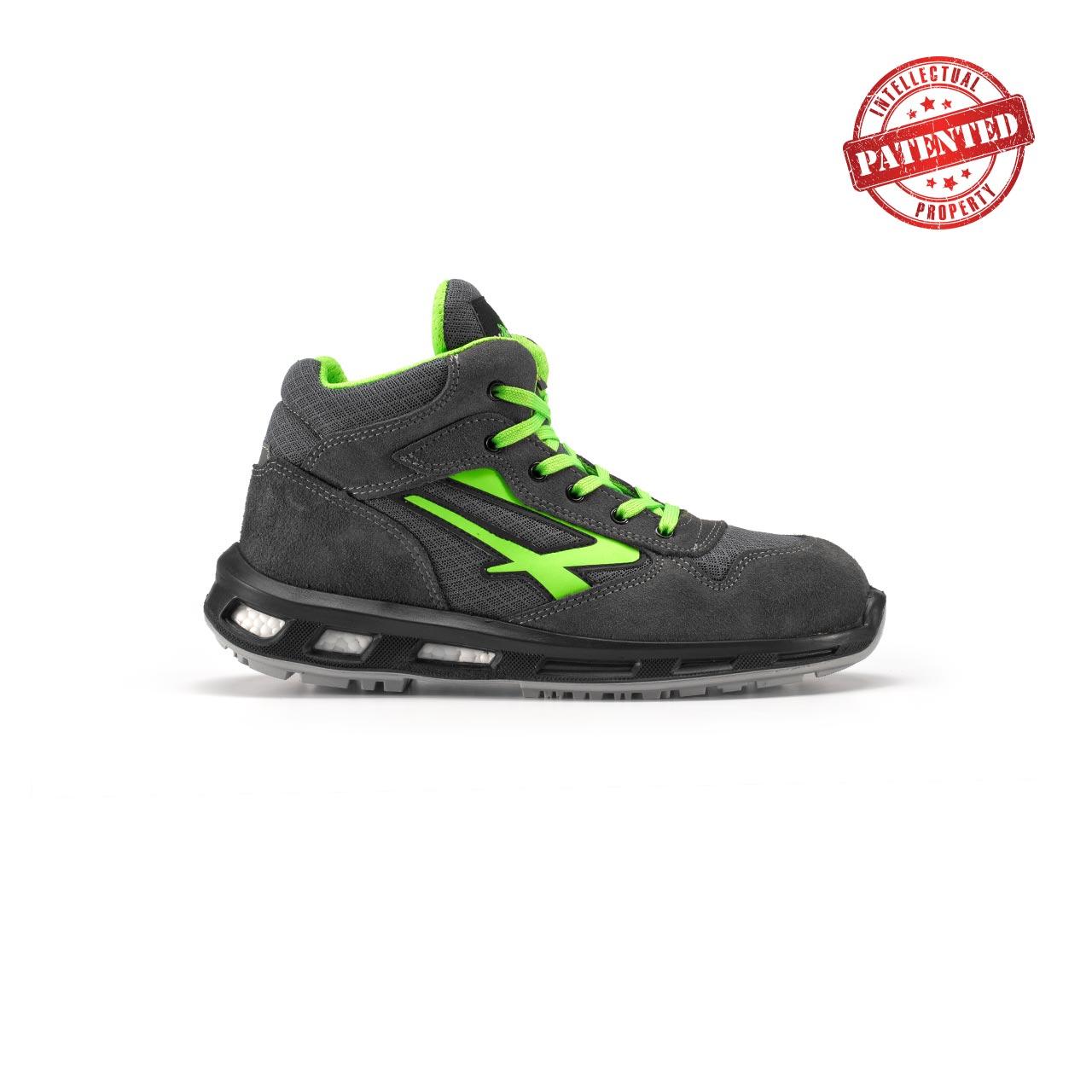 calzatura da lavoro alta upower modello ramas linea redlion vista lato destro