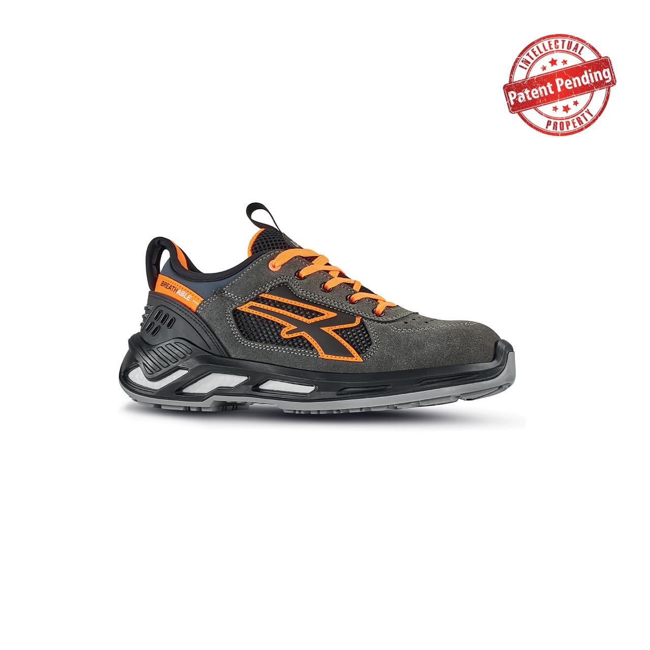 scarpa antinfortunistica upower modello ryder linea red360 vista laterale