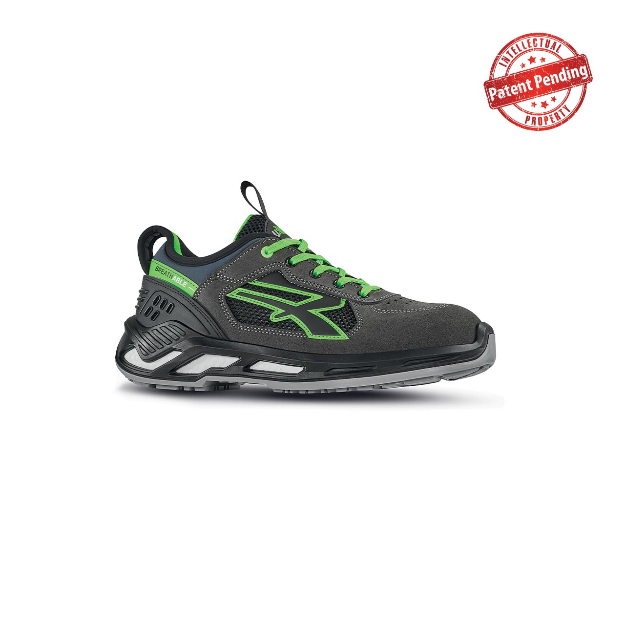 scarpa antinfortunistica upower modello negan linea red360 vista laterale