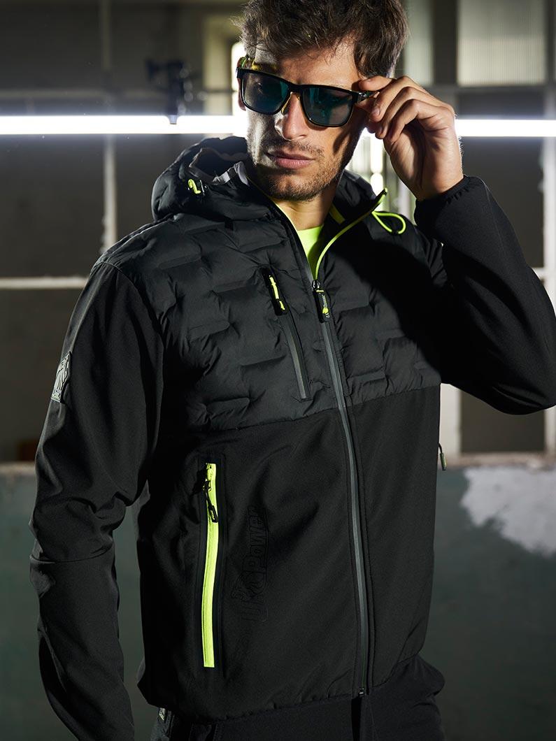 abbigliamento da lavoro upower modello space linea future giallo nero