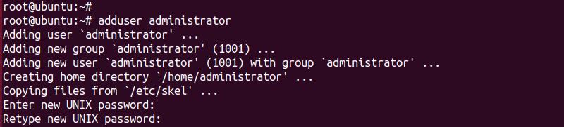 ubuntu create user password