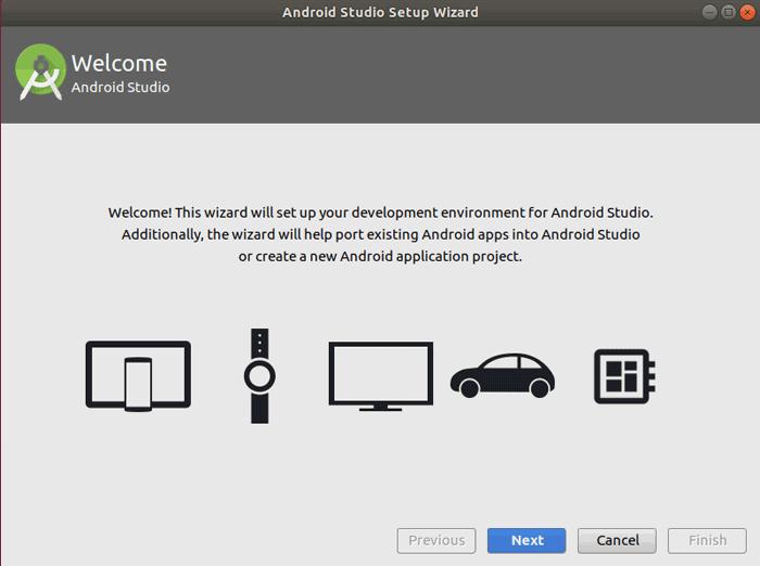 Ubuntu 18 Android Studio Setup Wizard