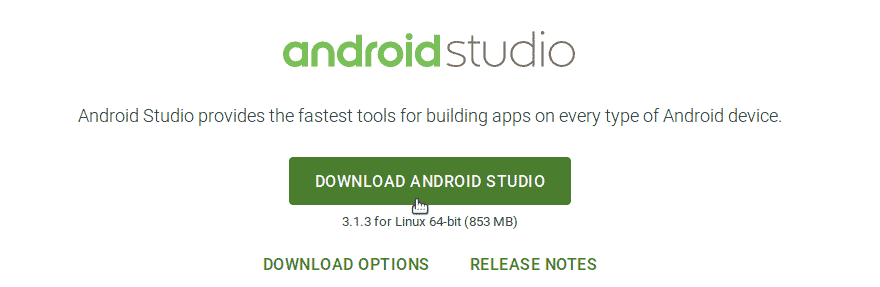 Download Android Studio for Ubuntu 18.04 Bionic Beaver