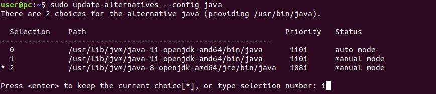 Set Default Java version in Ubuntu 18