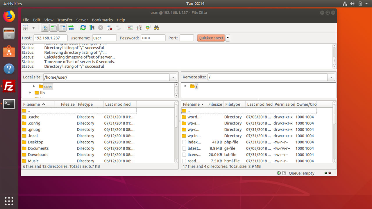 How to Install FileZilla in Ubuntu 18.04 Bionic Beaver